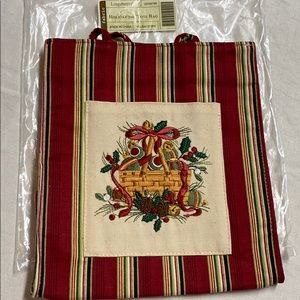 New 2005 Longaberger Holiday Gift Bag Tote